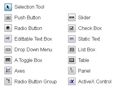 Matlab GUI components