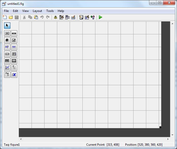 Matlab Guide blank GUI